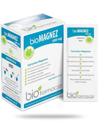 Biofarmacja BioMagnez 500mg 20 saszetek