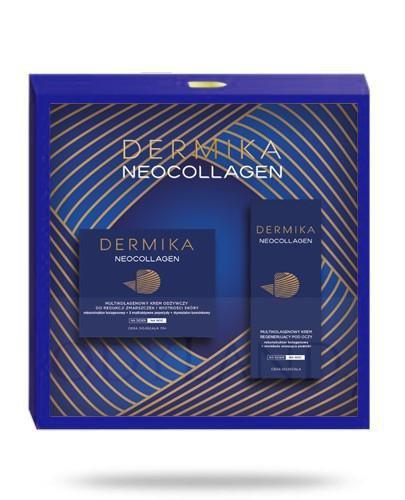 Dermika Neocollagen zestaw 70+ krem odżywczy 50 ml + krem pod oczy 15 ml [ZESTAW]
