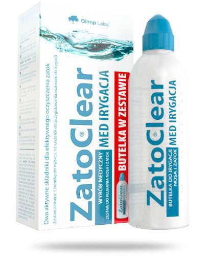 Olimp ZatoClear Med Irygacja zestaw do płukania nosa i zatok butelka + 12 saszetek [ZESTA...