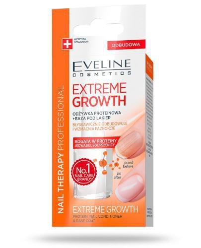 Eveline Extreme Growth odżywka proteinowa + baza pod lakier 12 ml