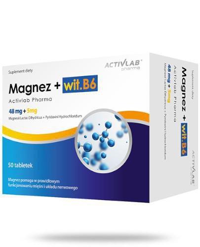 Activlab Pharma Magnez + wit. B6 50 kapsułek