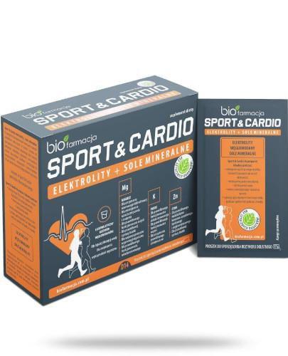 Biofarmacja Sport & Cardio elektrolity + sole mineralne 14 saszetek