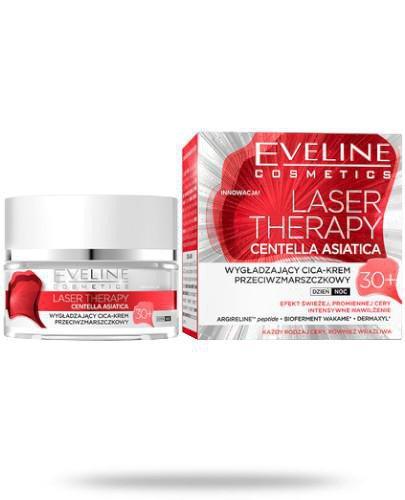 Eveline Laser Therapy Centella Asiatica 30+ wygładzający cica-krem przeciwzmarszczkow...