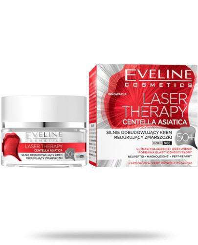 Eveline Laser Therapy Centella Asiatica 50+ silnie odbudowujący krem redukujący zmarszcz...