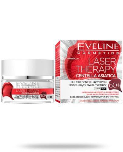 Eveline Laser Therapy Centella Asiatica 60+ multiregenerujący krem modelujący owal twarz...