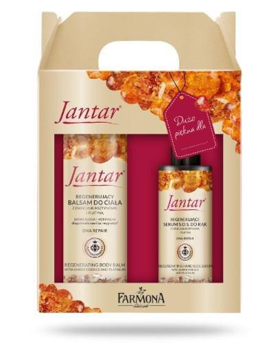 Farmona Jantar balsam do ciała z platyną 200 ml + serum do rąk 100 ml [ZESTAW]