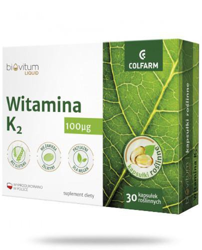 Colfarm Biovitum Liquid Witamina K2 30 kapsułek
