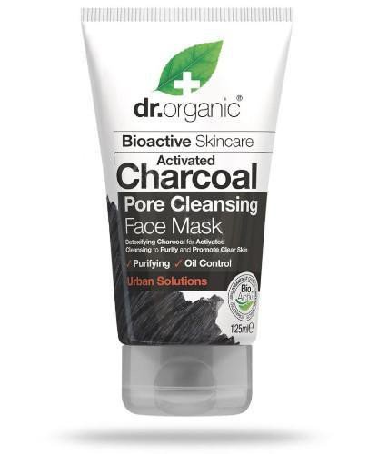 Dr.Organic Charcoal maseczka do twarzy z organicznym aktywnym węglem 125 ml