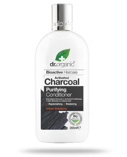 Dr.Organic Charcoal odżywka do włosów z organicznym aktywnym węglem 265 ml