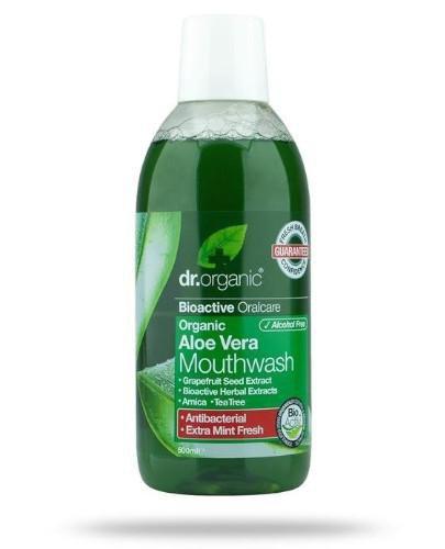 Dr.Organic Aloe Vera płyn do płukania ust z aloesem 500 ml