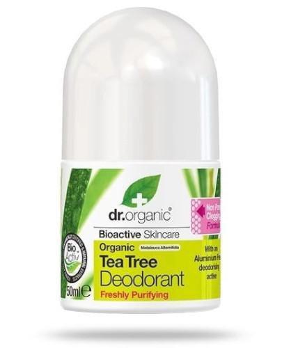 Dr.Organic Tea Tree dezodorant w kulce z organicznym olejkiem z drzewa herbacianego 50 ml