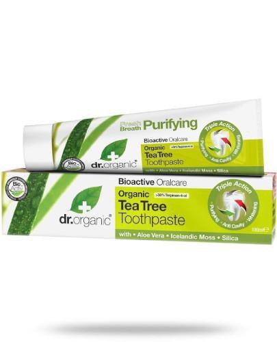 Dr.Organic Tea Tree pasta do zębów z organicznym olejkiem z drzewa herbacianego 100 ml