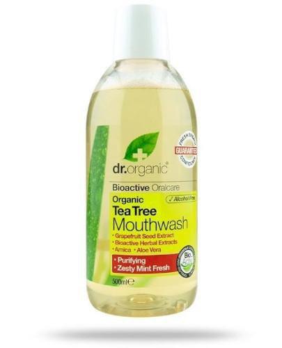 Dr.Organic Tea Tree płyn do płukania ust z organicznym olejkiem z drzewa herbacianeg...