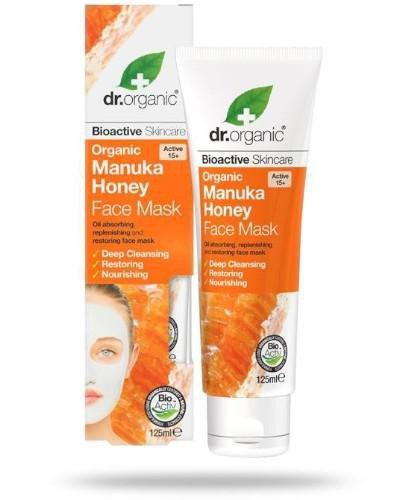 Dr.Organic Manuka Honey maska do twarzy z organicznym miodem manuka 125 ml