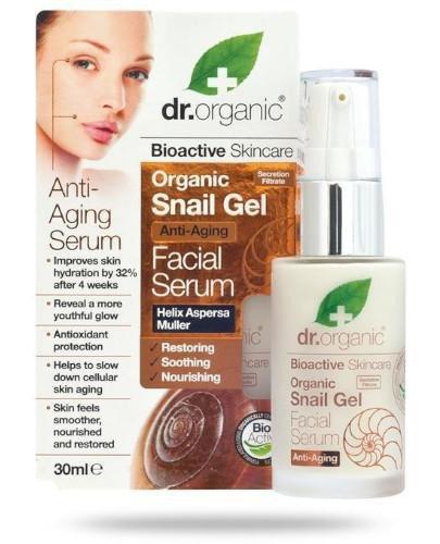 Dr.Organic Snail Gel organiczne serum do twarzy ze śluzu ślimaka 30 ml