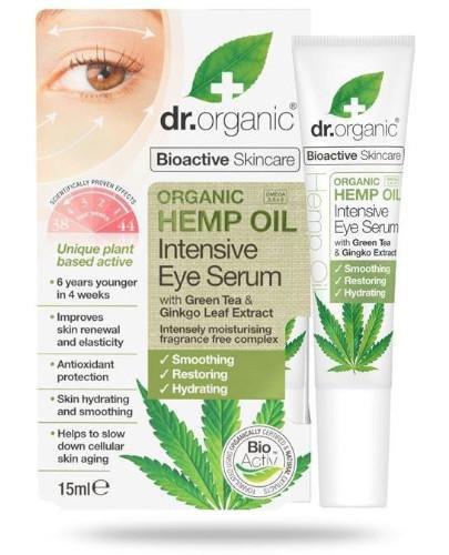 Dr.Organic Hemp Oil intensywne serum pod oczy z organicznym olejem z konopi siewnych 15 ml