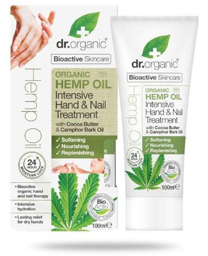Dr.Organic Hemp Oil krem do rąk i paznokci z organicznym olejem z konopi siewnych 100 ml