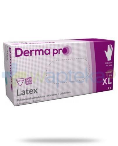 DermaPro Latex rękawice diagnostyczne lateksowe niejałowe pudrowane rozmiar XL 100 sztuk