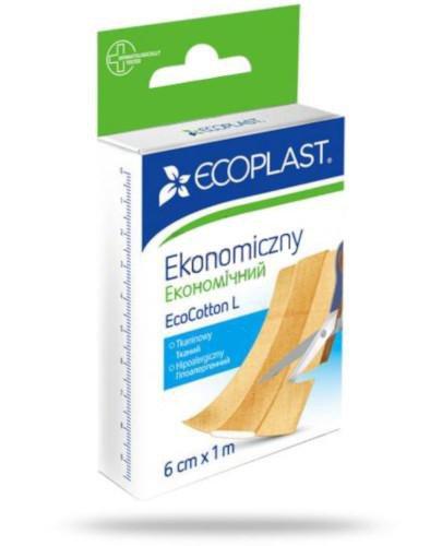 EcoPlast Ekonomiczny EcoCotton L plaster  tkaninowy hipoalergiczny 6 x 1 m
