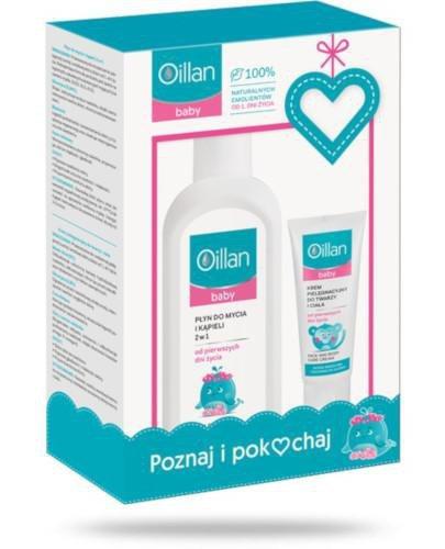 Oillan Baby płyn do mycia i kąpieli 2w1 400 ml + krem pielęgnacyjny do twarzy i ciał...