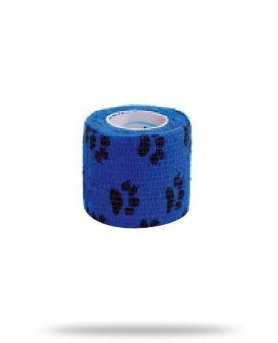 Stokban bandaż elastyczny samoprzylepny niebieskie łapki 10cm x 4,5m 1 sztuka