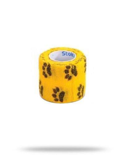 Stokban bandaż elastyczny samoprzylepny żółte łapki 10cm x 4,5m 1 sztuka