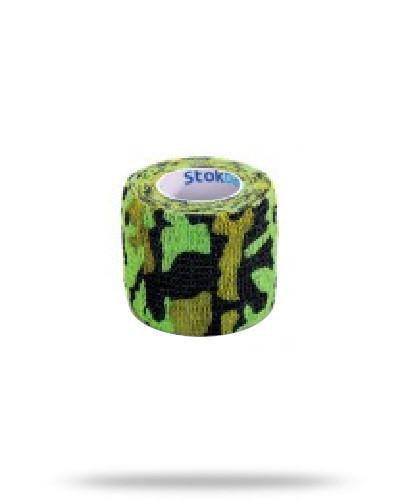 Stokban bandaż elastyczny samoprzylepny moro zielony 5cm x 4,5m 1 sztuka