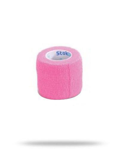 Stokban bandaż elastyczny samoprzylepny różowy 5cm x 4,5m 1 sztuka