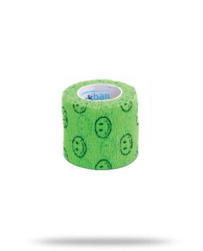 Stokban bandaż elastyczny samoprzylepny zielony uśmiech 5cm x 4,5m 1 sztuka