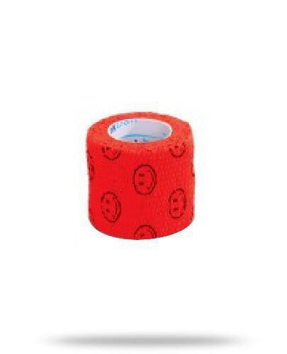 Stokban bandaż elastyczny samoprzylepny czerwony uśmiech 5cm x 4,5m 1 sztuka