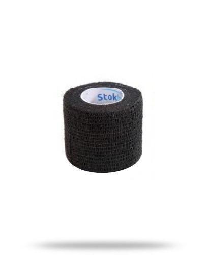 Stokban bandaż elastyczny samoprzylepny czarny 7.5cm x 4,5m 1 sztuka