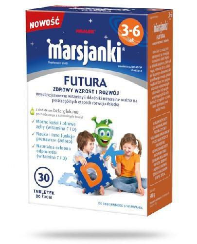 Marsjanki Futura zdrowy wzrost i rozwój dla dzieci od 3 do 6 lat 30 tabletek do żucia