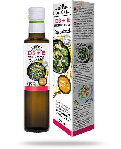 Dr Gaja D3 + E Mikstura Olei do sałatek niefilotrowane oleje tłoczone na zimno 250 ml
