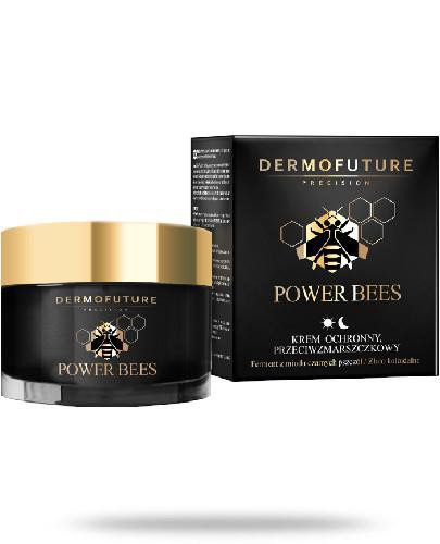 DermoFuture Power Bees krem ochronny przeciwzmarszczkowy na dzien i noc 50 ml