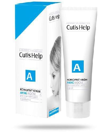 CutisHelp A krem konopny na noc do skóry trądzikowej 30 ml