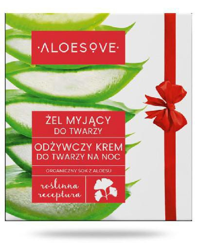 Aloesove żel myjący do twarzy 150 ml + odżywczy krem do twarzy na noc 50 ml [ZESTAW]