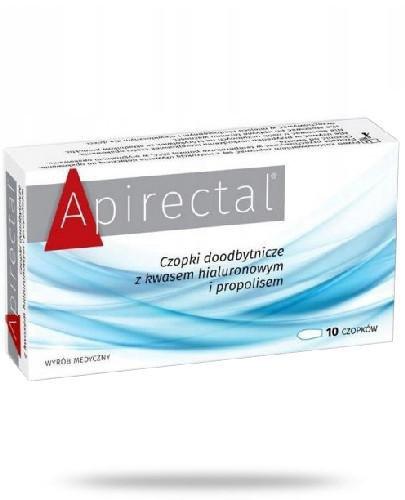 Apirectal czopki doodbytnicze z kwasem hialuronowym i propolisem 10 sztuk