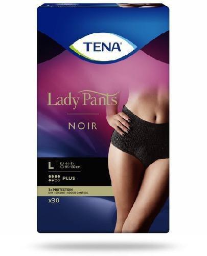 Tena Lady Pants Plus Noir damskie majtki chłonne rozmiar L 30 sztuk