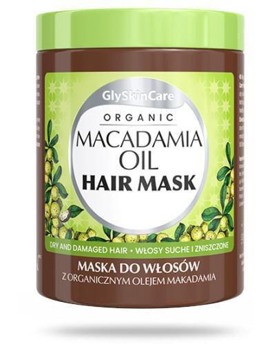 GlySkinCare Maska do włosów z organicznym olejem makadamia 300 ml