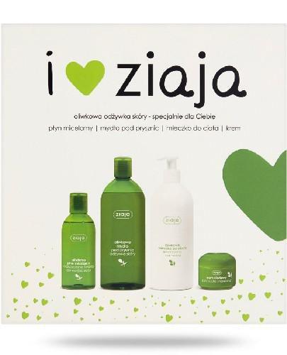 Ziaja Oliwkowy płyn micelarny 200 ml + mydło pod prysznic 500 ml + mleczko do ciał...