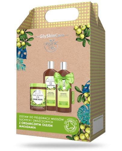 GlySkinCare Macadamia Oil zestaw do włosów z organicznym olejem makadamia [ZESTAW]