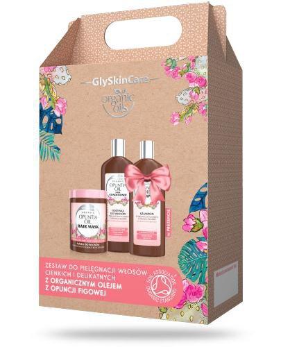 GlySkinCare Opuntia Oil zestaw do włosów z organicznym olejem z opuncji figowej [ZESTAW]