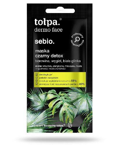 Tołpa Dermo Face Sebio maska czarny detox 8 ml