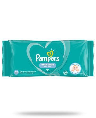 Pampers Fresh Clean chusteczki nawilżane dla niemowląt 52 sztuki