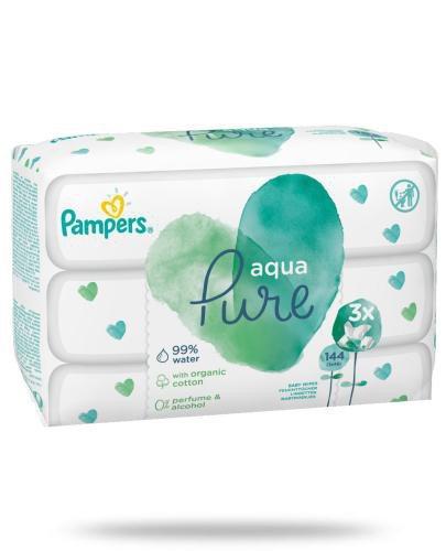 Pampers Aqua Pure chusteczki nawilżane dla niemowląt 3x 48 sztuk