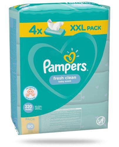 Pampers Fresh Clean chusteczki nawilżane dla niemowląt 4x 80 sztuk