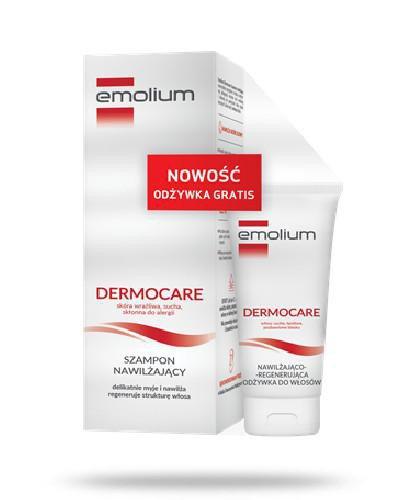 Emolium Dermocare szampon nawilżający 400 ml + nawilżająco-regenerująca odżywka do ...