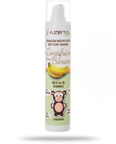 Azeta Bio organiczna pasta do zębów dla dzieci bez fluoru bananowa 50 ml
