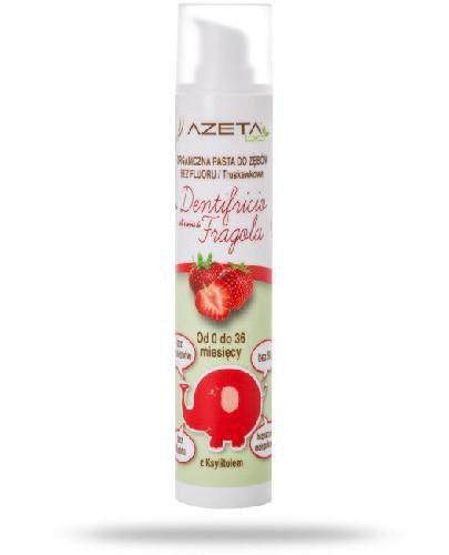 Azeta Bio organiczna pasta do zębów dla dzieci bez fluoru truskawkowa 50 ml