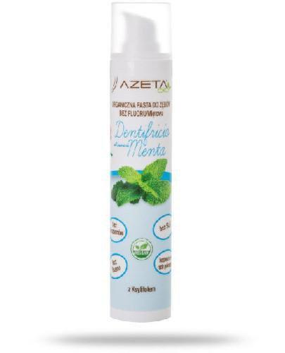Azeta Bio organiczna pasta do zębów dla dzieci i dorosłych bez fluoru miętowa 50 ml